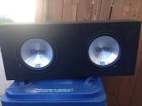black clarion dual woofer speaker Winnipeg, R2R 1H9