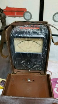 Canadian army analog multimeter with case
