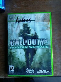 Call of Duty 4 Modern Warfare Xbox 360 game case Martinsburg, 25401