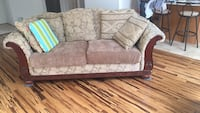 brown and gray fabric 2-seat sofa Silver Spring, 20910