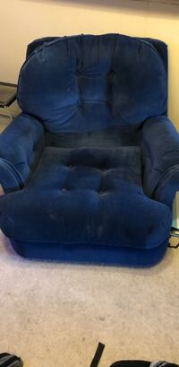 Very comfortable blue chair  Westminster, 80005