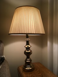 4 brass table lamps