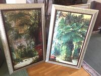 two brown wooden framed painting of trees Irvine, 92620