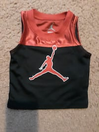 Baby Air Jordan Black & Red Tank Top..Pre-Owned in EUC.. Size 3-6 Months...Like new! Hampton, 23666