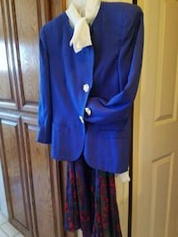 women's blue long-sleeved suit with dress shirt Moreno Valley