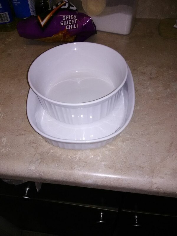 two round and oblong ceramic casseroles