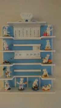 white and blue wooden wall rack Hesperia, 92345