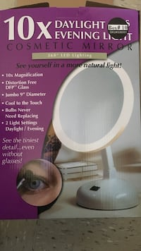 white cosmetic mirror box