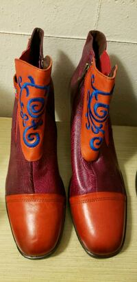 pair of red-and-blue leather cowboy boots Toronto, M5N 3A7