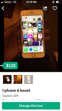 I phone 6s boost Mobile  Trotwood, 45426