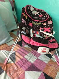 baby's pink and black Fisher-Price bouncer Pittsburg, 94565