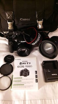 black canon eos rebelt t3 eos 1100d dslr camera se Moss Point, 39562