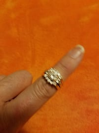 silver diamond ring Vincennes, 47591