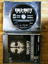 Call of Duty Ghosts PS3 game disc Mesa