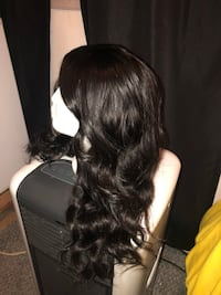 women's black hair wig 44 km