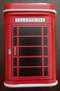 "NEW Tiny Telephone Box Tin (About 2"" tall) Greenwood Village"