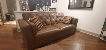 Italian leather (Modugno, Italy) sofa set