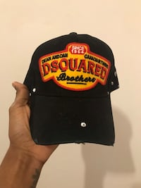 Black and yellow D-Squared cap Hyattsville, 20783
