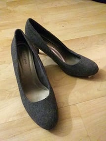High Heels, Grey & Black in color, Size 8 by Comfo