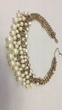 silver and white pearl beaded necklace Mississauga