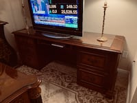Matches executive desk with burl inlaid West Palm Beach