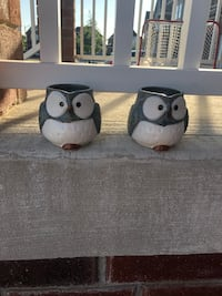 Two owl mugs Whitby, L1M 0H4