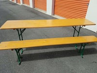 Foldable clasping table and benches Woodbridge, 22192