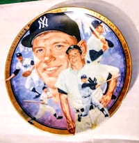 MICKEY MANTLE Collectible Baseball Plate NY YANKEE Glendale, 85304