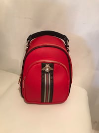 red and black leather backpack Sunrise, 33351