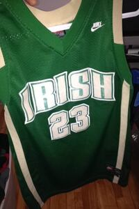 green and brown Irish 23 basketball jersey Côte-Saint-Luc, H4W 1V7