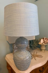 Set of 2 blue lamps with shades 912 mi