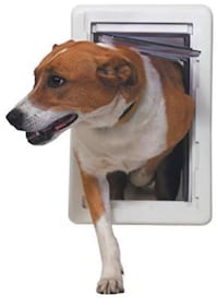 Perfect Pet The All-Weather Energy Efficient Medium Dog Door with 7-1/4-Inch by 13-Inch Opening