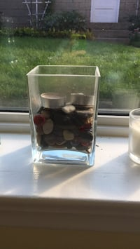 Rectangle jar with rocks