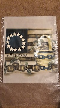 "AMERICANA FLAG  NEW 11"" x 14"" Littlestown, 17340"