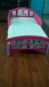 baby's pink and white wooden crib Silver Spring, 20907