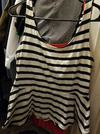 Express black and white stripe tank top Pasadena, 77503