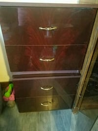 brown wooden framed glass cabinet Rumford, 04276