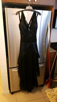 100% silk black dress - size 8