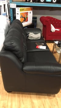 Leather couch black Available in many other colours price varies Toronto, M9W 6N5