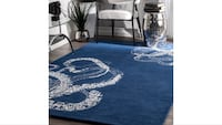 Navy nautical rug, brand new still in plastic