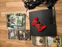 Ps3 (PlayStation 3) w cords 2 controls 5 games
