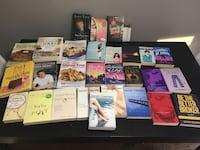 28 mixed novels and cook books