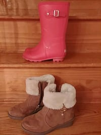 boots, girls size 1