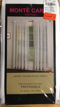 Sheer white curtain panel Lebanon, 97355
