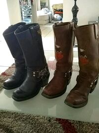 pair of brown leather boots Las Vegas, 89101