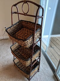 Cane Kitchen basket organiser  null