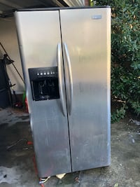 stainless steel side-by-side refrigerator with dispenser Fayetteville, 28314