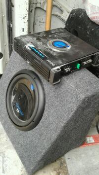 Audio planet amp and 12 inch sub. Truck/SUV bx. Sellersburg