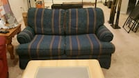 blue and gray fabric loveseat New Market, 21774