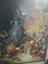 still life painting of fruits